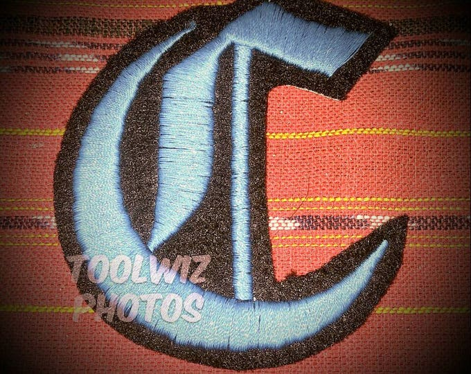 1 inch Letter embroidered patch Old English