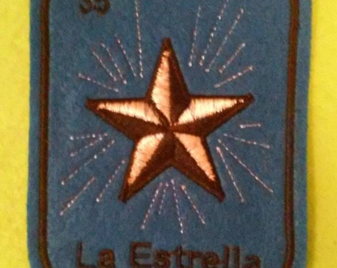 La Estrella  Loteria Patch  Iron On star