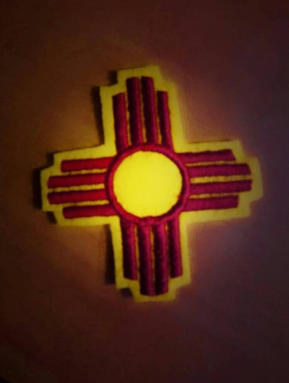 New Mexico Zia symbol iron embroidery design file
