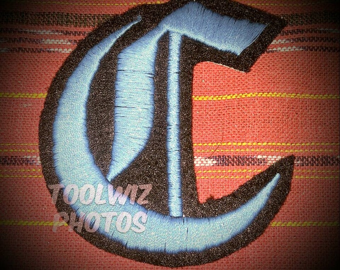 3 inchLetter embroidered patch Old English