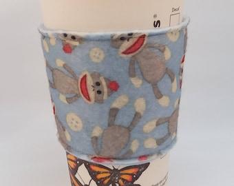 Reusable Cup Cozy - Sock Monkey