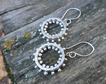 Pinned Hoop Earrings