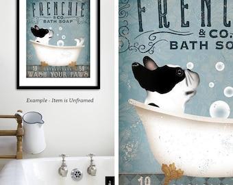 French Bathroom Art Etsy