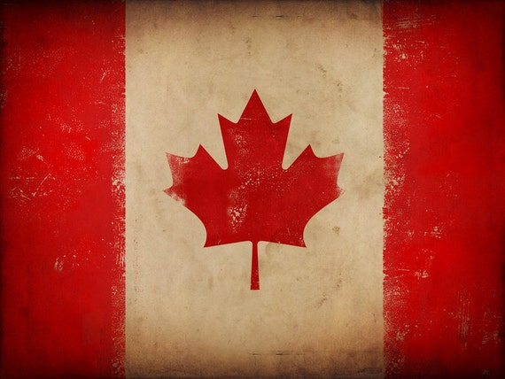 Canada Maple Leaf Canadian Flag Art Graphic Art On Canvas By Etsy