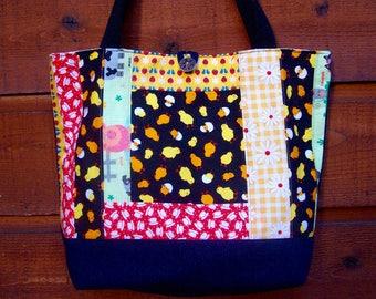 Teacups and Chicks Denim & Cotton Everything Reusable Eco Large Washable Bag