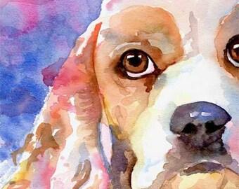Irish Setter Art Print Signed by Artist Ron Krajewski Painting 8x10 Dog