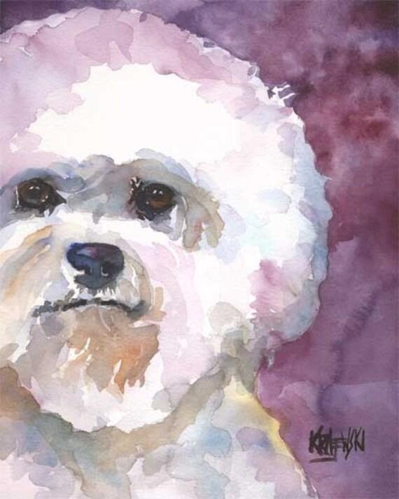 Boston Terrier Dog Art Print Signed by Artist Ron Krajewski 8x10