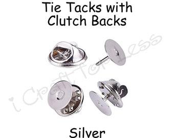 Silver Toned Age 50 Tie Tack