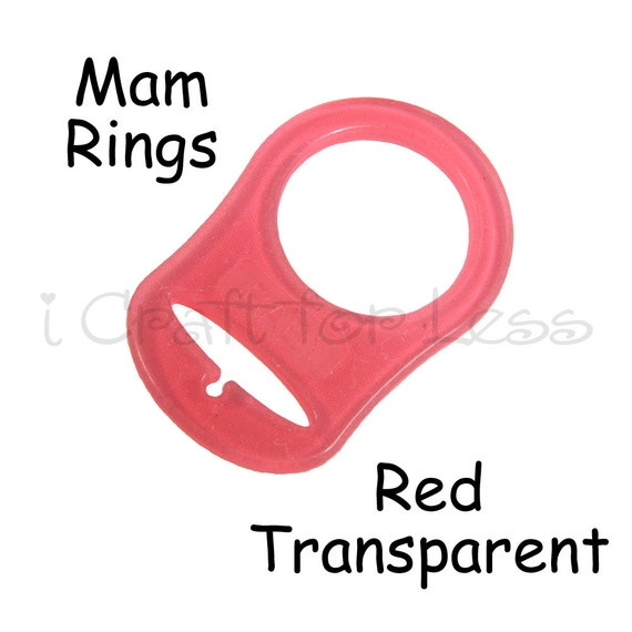 100 CLEAR PLASTIC SILICONE RINGS MAM PACIFIER ADAPTERS