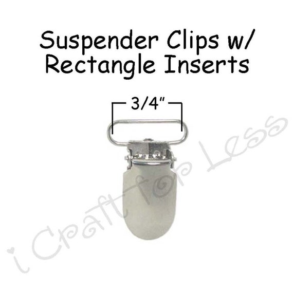 Pacifier Holder LEAD FREE 10 Round Face Metal 5mm Suspender Clips w// Inserts