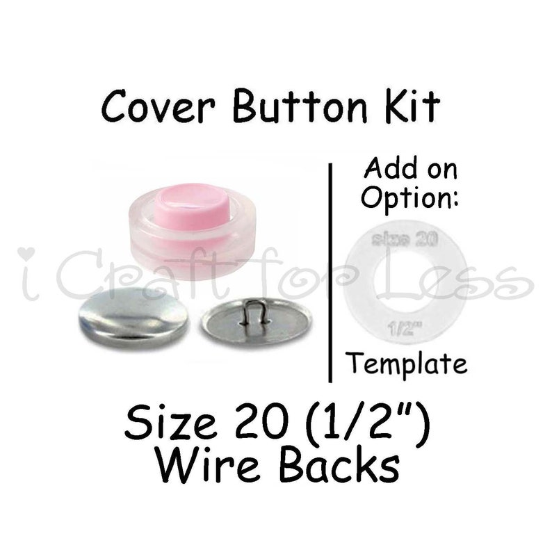 1//2 inch Cover Button Template Size 20