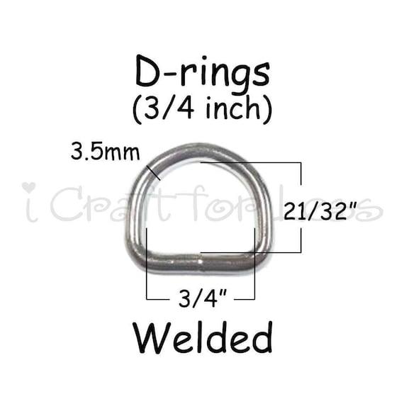 32mm Nickel D Rings