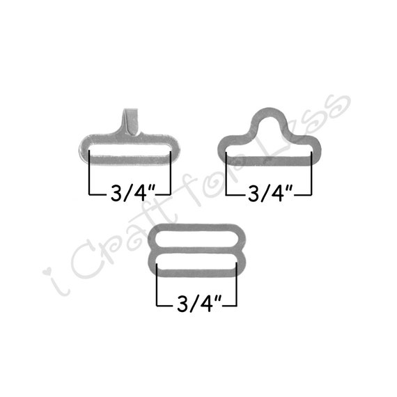 25 ensembles noeud papillon matériel attache Clips - 3/4