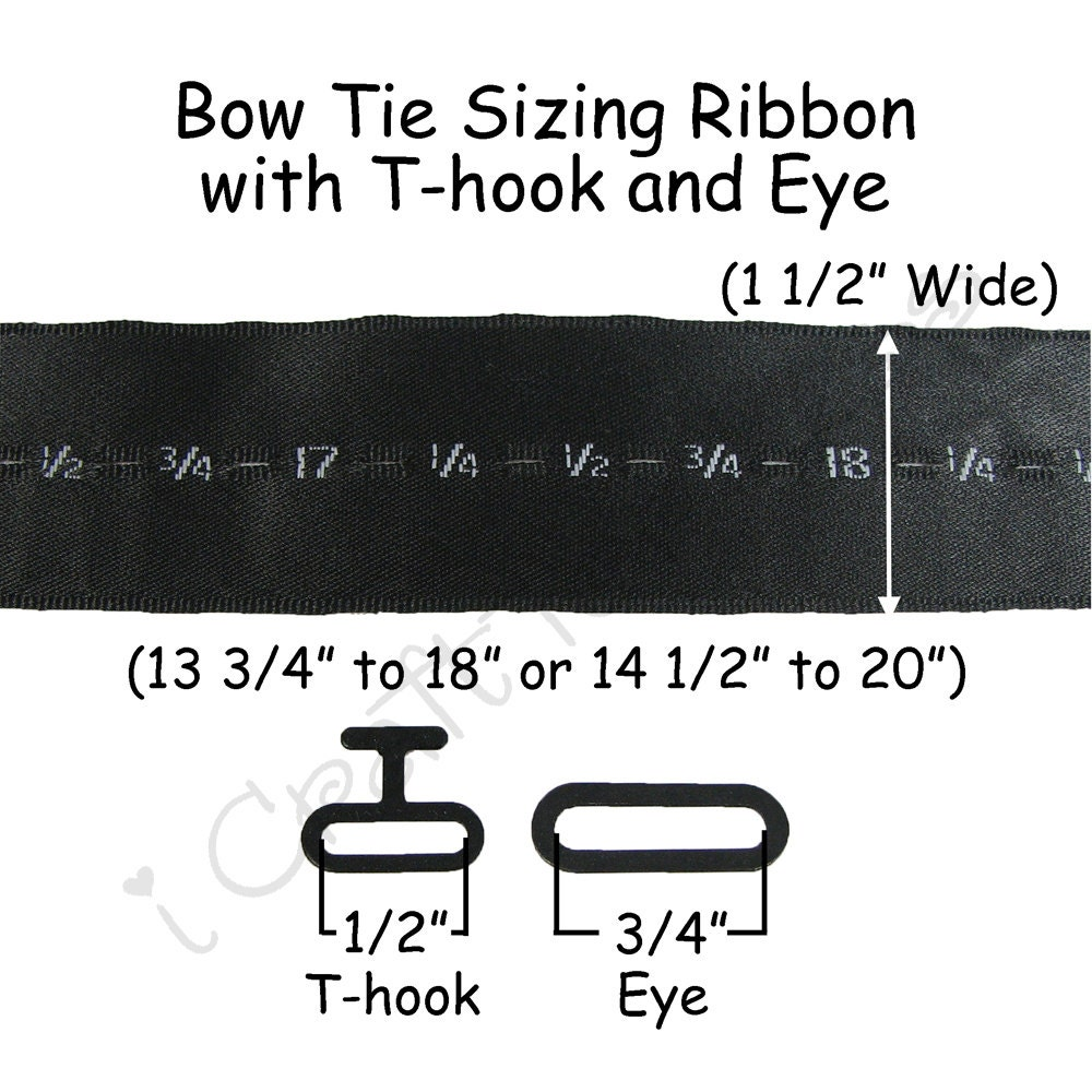 20 Self Tying Adjustable Sizing Ribbon 1 2 Wide Bow Etsy Tie Diagram Hardware Black Metal See Coupon