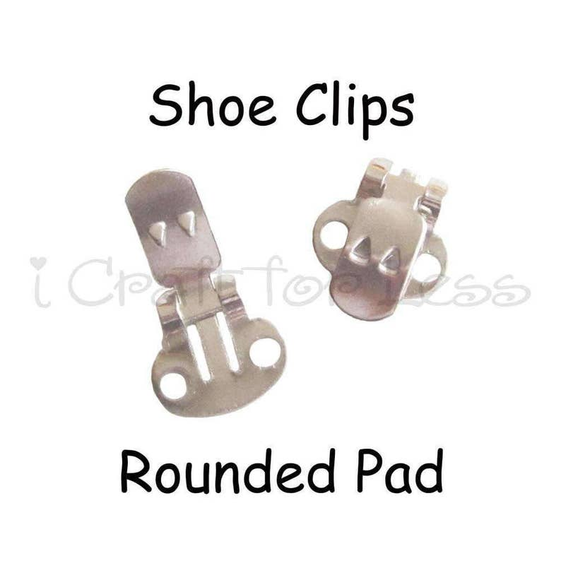 Shoe Clips Blanks  20 10 pairs with Rounded Pad image 0