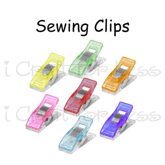 10 Glow In The Dark Plastic Quilter Sewing Holding Clips Craft Binding Clips
