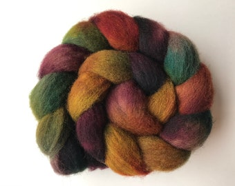 4 oz The Vaulted Sky on Hand Dyed Falkland Wool Combed Top