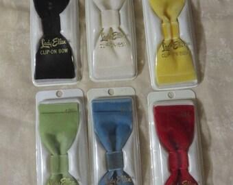 Vintage 1950s 1960s Hair Bows Velvet NIP NOS Deadstock Beehive Bouffant Rockabilly 50s 60s YOU Pick Color
