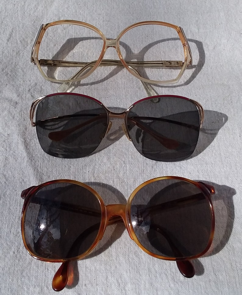 ad27bfe388 Lot Offering of Three Vintage Large Frame Eye glasses, 1980s Tura,  Versailles, Windsor,You Fill, Your RX