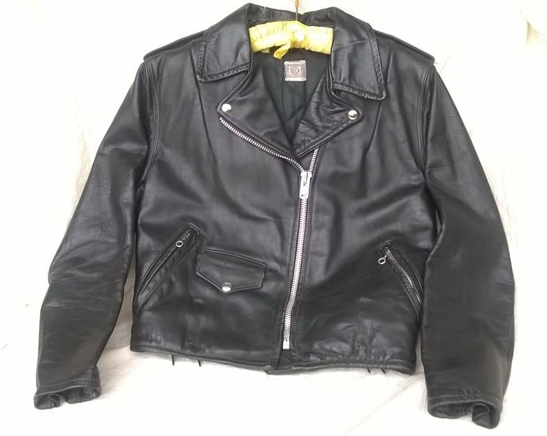 eba657e486dc0 1950s Beck Motorcycle Jacket One Star Schott Leathers RARE