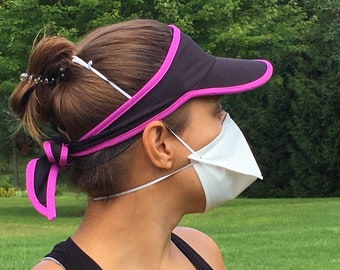 SPORT Face Mask with Nose Wire - 3 Sizes Adult Child - Exercise Running Workout