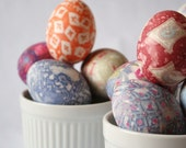 Silk Dyed Easter Egg Kit - Easy Tidy Fabulous Recycled and Reusable - FREE US SHIPPING