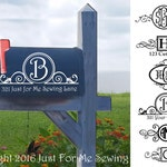 Mailbox Monogram Decal-Fast Shipping-Made in the USA