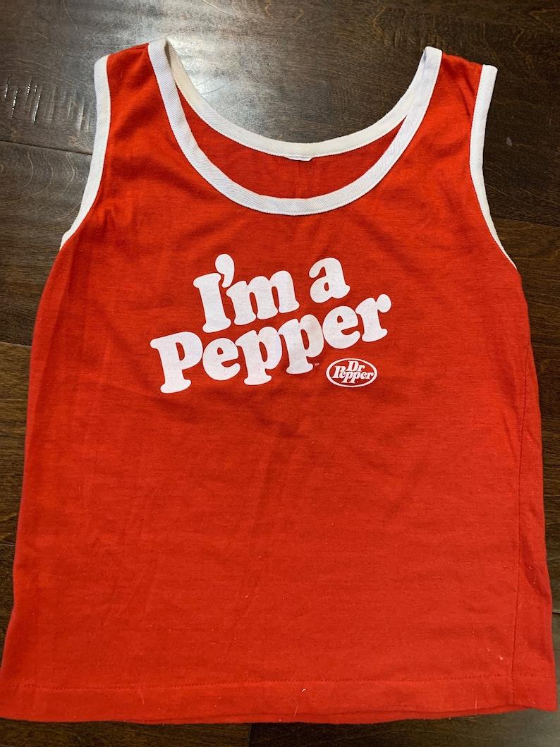 Vintage 1980s \u201cI\u2019m a Pepper\u201d Graphic Tank Top