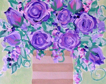 Painter's Garden Roses - Dior Essence, Paul Cezanne, Rio Samba, Henri Matisse - Original Gouache Paintings by Suzanne MacCrone Rogers