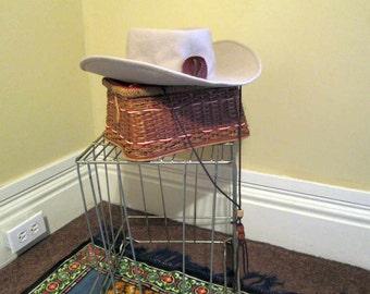 Rockmount vintage Cowboy Hat Yellowstone National Park hat Cream wool Tan  50s vintage Western hat Chinstrap hat Ranchwear cowboy hat 7 1 8 3a061a4abb77