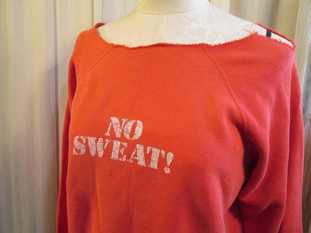 47da81451c21e Vintage no sweat sweatshirt flashdance style distressed etsy jpg 1024x768  80s sweatshirts flashdance style