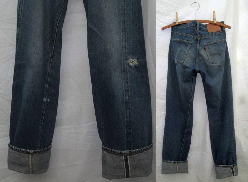 7db61d2069e Big E Vintage Levis 501 Redline selvedge denim Jeans Single