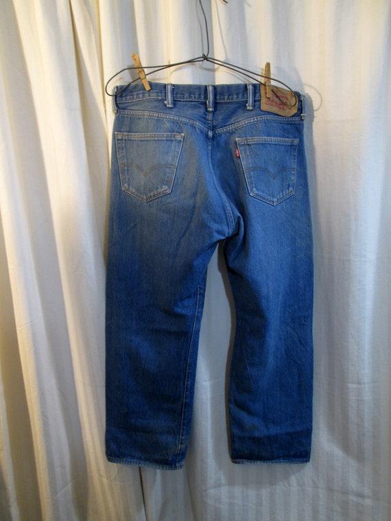 90s Distressed 501 Levis Vintage Blue denim Faded… - image 2
