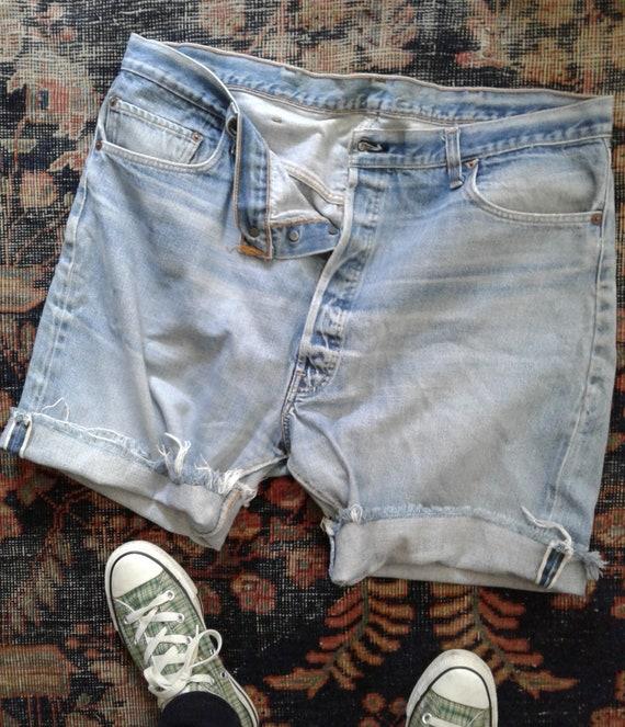 Vintage Levis Cut Off Shorts 70s Redline 6 top but