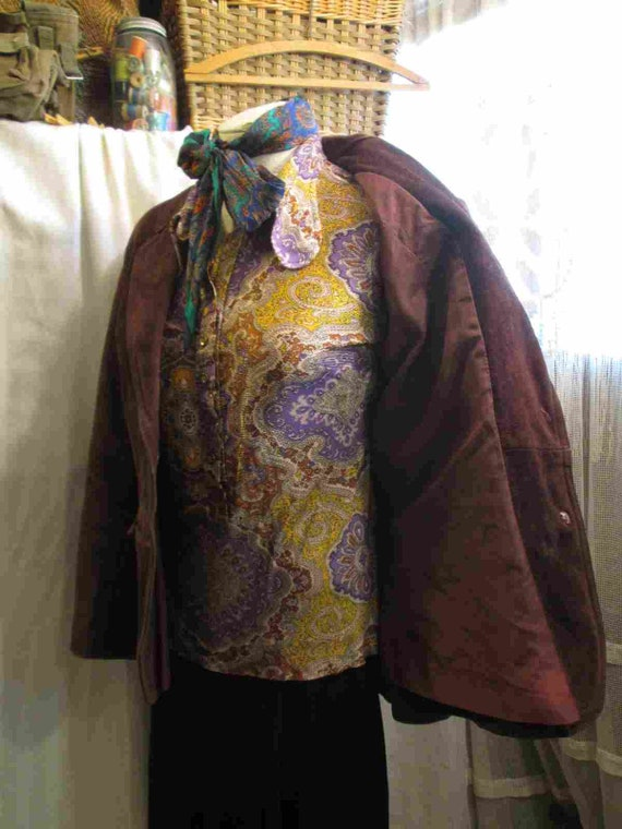 70s Vintage Cocoa Brown Suede Leather Jacket vint… - image 8