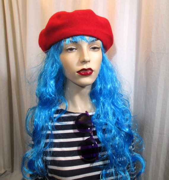 Sassy Red wool Vintage Beret Classic Paris style s