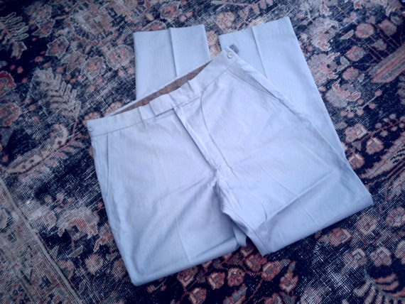 Vintage Penneys 60s Trousers NOS Blue slim cut tab