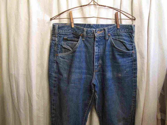70s Denim Vintage Lee Riders Jeans Distressed flar