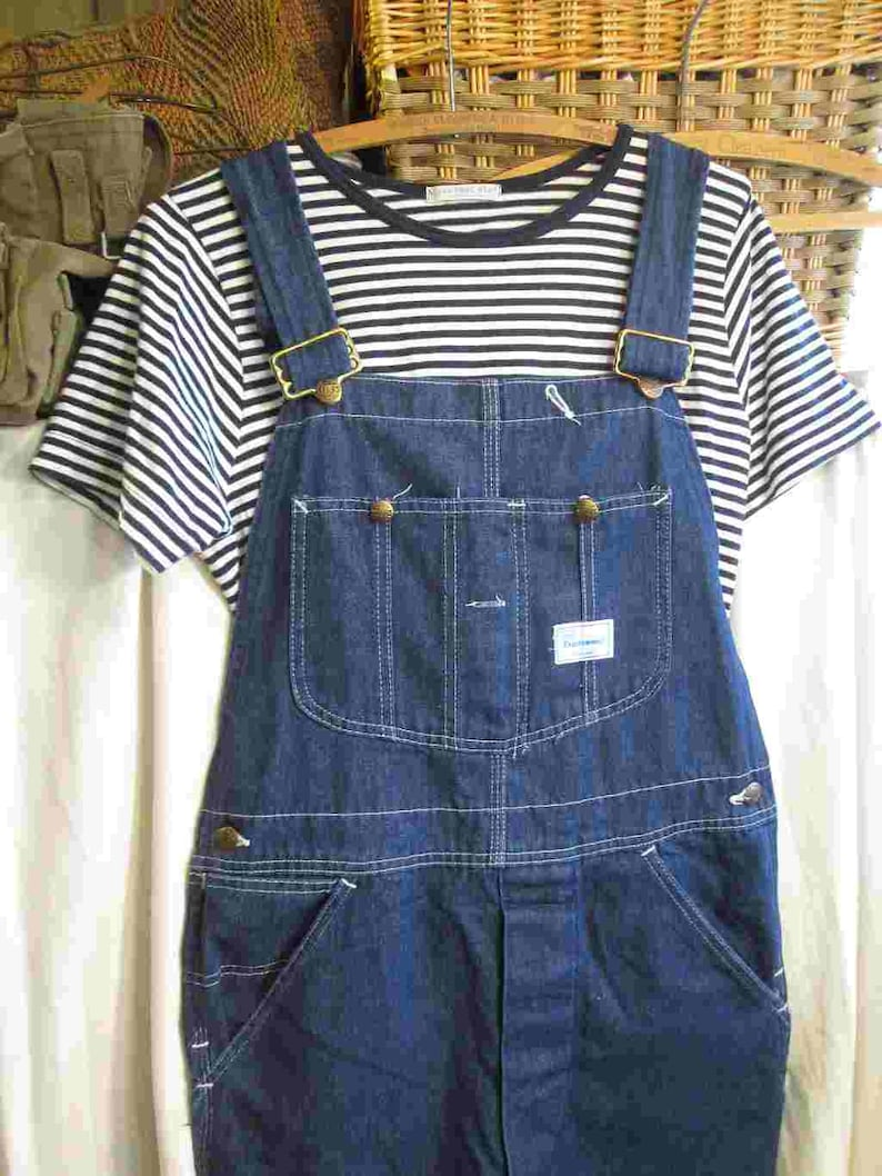 d74ad59d Sears vintage Overalls dark Blue Denim 60s vintage Union Made | Etsy
