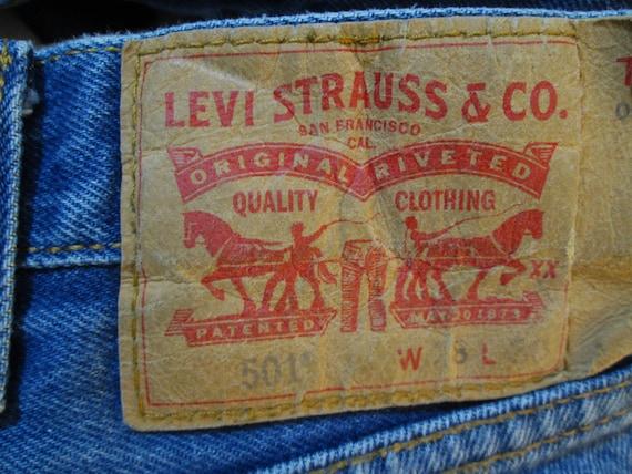 90s Distressed 501 Levis Vintage Blue denim Faded… - image 6