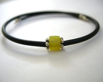 Serpentine Bracelet, Lime Green Serpentine Stone Cuff Bracelet , Serpentine Handmade Gemstone Lime Green Bracelet