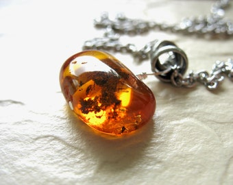 Amber Necklace, Baltic Amber Stone Necklace, Amber Jewelry, Handmade Artisan Baltic Amber Jewelry