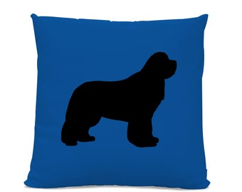 Newfoundland Silhouette Pillow - Your Choice of Color - Newfie Dog Pillow -  dog breed silhouette pillow - dog home decor - Dog Lover Gift 00f10301856f