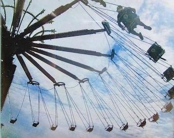 Small Framed Carnival Ride Photo Print