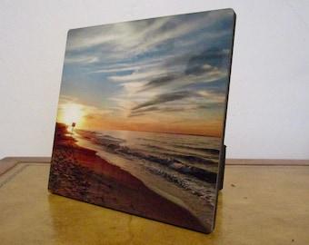 Self-standing Beach Sunset Photo