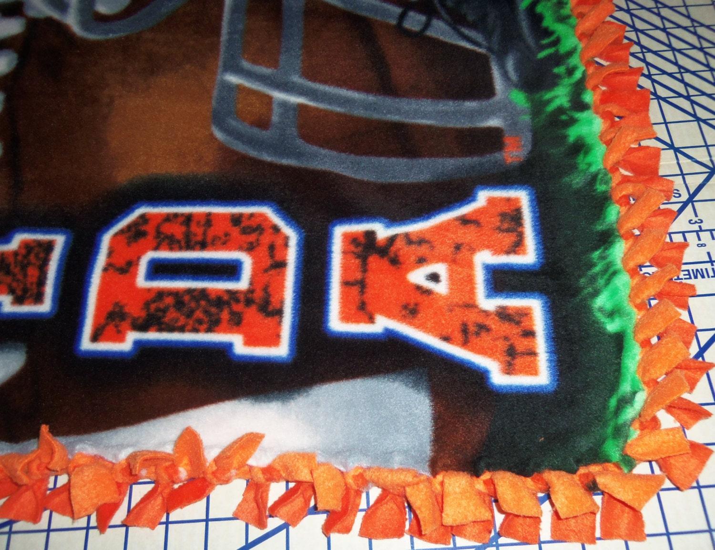 Florida Gators Fleece Throw Decke Football Player Blau Orange