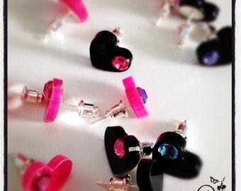 Little swarovski hearts Pink only
