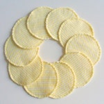 Cotton Rounds Make-up Remover Pads Yellow Stripe Washable Reusable cosmetic, Ready to ship