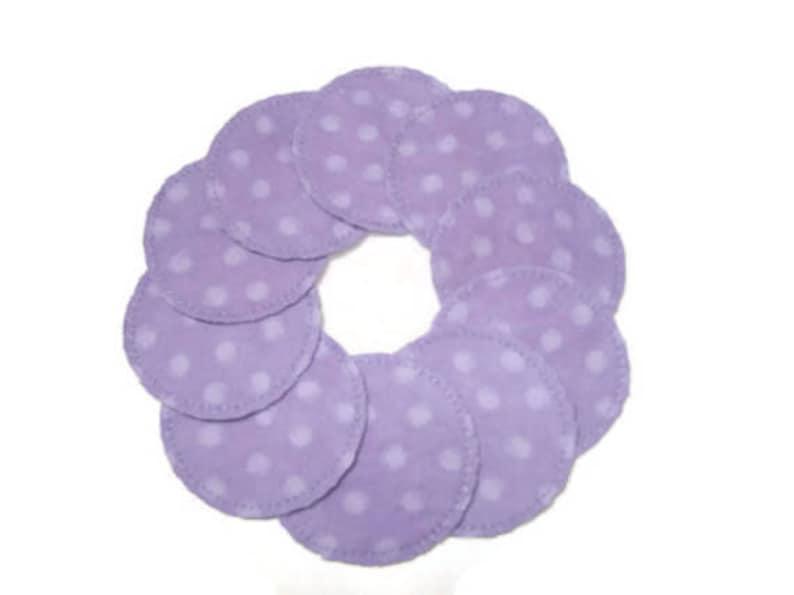 Lavender Dot Make-up Remover Pads Washable Reusable Cotton image 0