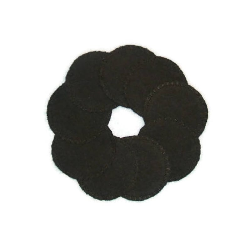 Black Reusable Cotton Rounds Cosmetic Pads image 0